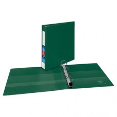 """Heavy-Duty Binder With One Touch Ezd Rings, 11 X 8 1/2, 1 1/2"""" Capacity, Green"""