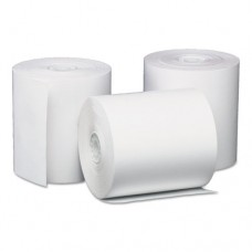 """Direct Thermal Printing Thermal Paper Rolls, 3 1/8"""" X 200 Ft, White, 50/carton"""