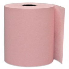 "Direct Thermal Printing Thermal Paper Rolls, 3 1/8"" X 230 Ft, Pink, 50/carton"