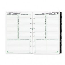 Dated One-Page-Per-Day Organizer Refill, January-December, 5 1/2 X 8 1/2, 2016