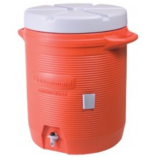 Plastic Water Coolers, 7 gal, Orange
