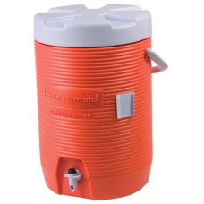 3GAL ORANGE PLASTIC WATER COOLER 1683
