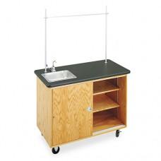 Economy Mobile Lab Table, Rectangular, 48w X 24d X 36h, Black
