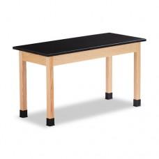 Science Table, Rectangular, 54w X 24d X 30h, Black/oak