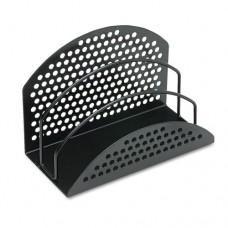 Perf-Ect Mini Sorter, 3 Sections, Steel, 7 X 3 1/2 X 4 7/8, Black