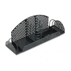 Perf-Ect Multi Desk Organizer, Metal/wire, 12 7/8 X 4 X 4 3/4, Black