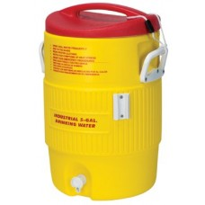 Heat Stress Solution Water Cooler, 5 Gallon, Red and Yellow