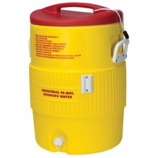 YELLOW|Heat Stress Solution Water Coolers, 10 gal, Red