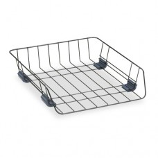 Front Load Wire Desk Tray, Wire, Black