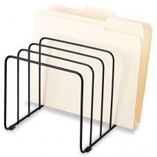 Wire Vertical File, 5 Comp, Steel, 10 1/4 X 8 X 7 7/16, Black
