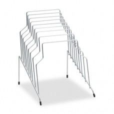 Wire Step File, 8 Comp, Steel, 10 1/8 X 12 1/8 X 11 13/16, Silver