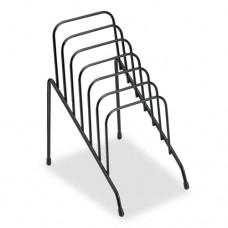 Wire Step File Jr, 6 Comp, Steel, 4 3/8 X 6 1/2 X 7 3/4, Black