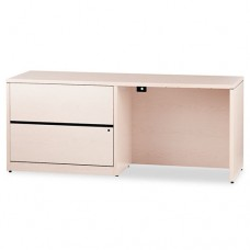 10500 Series Credenza W/left Lateral File, 72w X 24d X 29-1/2h, Natural Maple