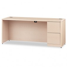 10700 Series Right Pedestal Credenza, 72w X 24d X 29 1/2h, Natural Maple