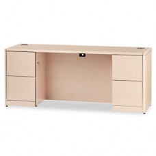 10700 Kneespace Credenza, Full Height Pedestal, 72 X 24 X 29 1/2, Natural Maple