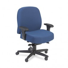 Pyramid 3500 Series Intensive Use Managerial Task Chair, Blue Upholstery