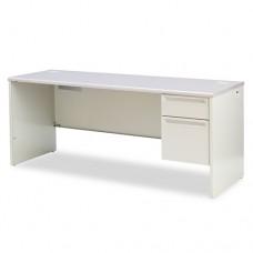 38000 Series Right Pedestal Credenza, 72w X 24d X 29-1/2h, Gray