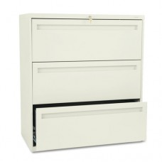 700 Series Three-Drawer Lateral File, 36w X 19-1/4d, Putty