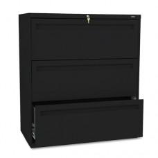 700 Series Three-Drawer Lateral File, 36w X 19-1/4d, Black