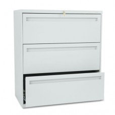 700 Series Three-Drawer Lateral File, 36w X 19-1/4d, Light Gray