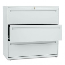 700 Series Three-Drawer Lateral File, 42w X 19-1/4d, Light Gray