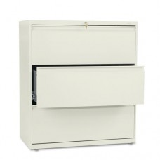 800 Series Three-Drawer Lateral File, 36w X 19-1/4d X 40-7/8h, Putty