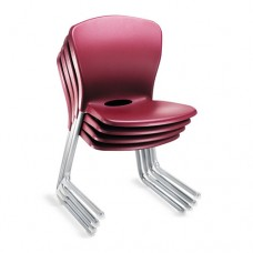 Accomplish Series Large Student Chairs, Garnet/titanium, 4/carton
