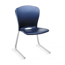 Accomplish Series Large Student Chairs, Navy/titanium, 4/carton
