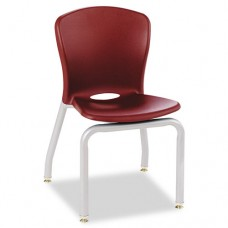 Accomplish Series Chairs, 18 X 17-1/4 X 26-5/8, Garnet, 4/carton