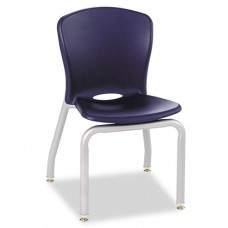 Accomplish Series Chairs, 18 X 17-1/4 X 26-5/8, Navy, 4/carton