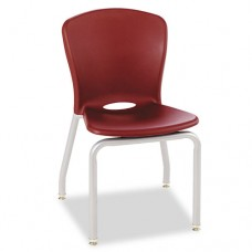 Accomplish Series Chairs, 19-7/8 X 19-3/4 X 30-1/2, Garnet, 4/carton
