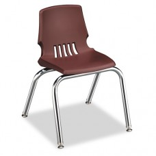 "Proficiency Series Student Shell Chair, 14"" Seat Height, Garnet Shell, 4/carton"