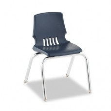 "Proficiency Series Student Shell Chair, 14"" Seat Height, Navy Shell, 4/carton"