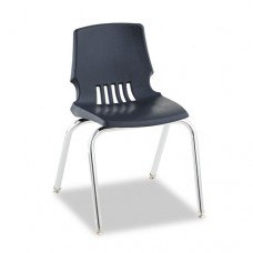 "Proficiency Series Student Shell Chair, 16"" High, Navy Shell, 4/carton"