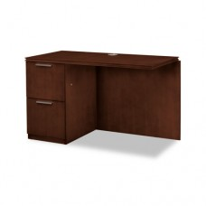Arrive Left Return For Right Pedestal Desk, 48w X 24d X 29-1/2h, Shaker Cherry