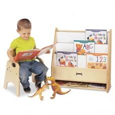 Toddler Pick-A-Book Stand, 24w X 9d X 25h, Birch