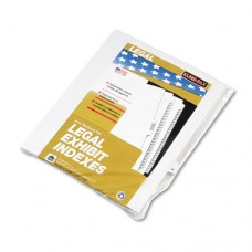 "80000 Series Legal Index Dividers, Side Tab, Printed ""r"", White, 25/pack"