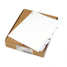 80000 Series Blank Side Tab Dividers, 5-Tab, Ltr, White, 3-Hole Punched, 5 Sets