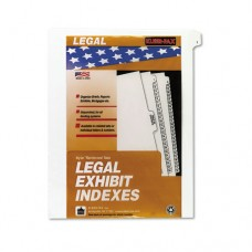 "90000 Series Legal Exhibit Index Dividers, Side Tab, Printed ""1"", 25/pack"