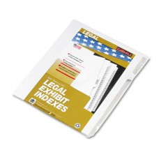 "90000 Series Legal Exhibit Index Dividers, Side Tab, Printed ""7"", 25/pack"