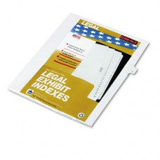 "90000 Series Legal Exhibit Index Dividers, Side Tab, Printed ""9"", 25/pack"