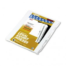 "90000 Series Legal Exhibit Index Dividers, 1/25 Tab, Printed ""15"", 25/pack"