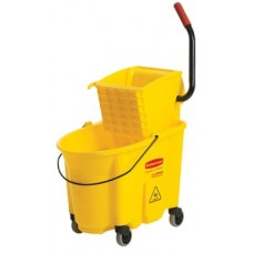 WaveBrake Bucket/Wringer Combination Pack, 35 qt, Yellow