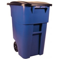 BLUE 50 GAL BRUTE ROLLOUT CONTAINER W/LID