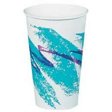 Single Sided 8 oz Jazz® Design Poly Paper Handled Hot Cup