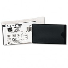 Slap-Stick Magnetic Label Holders, Side Load, 4-1/4 X 2-1/2, Black, 10/pack