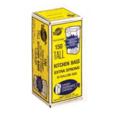 Trash Can Liners, 13 Gallon, 24 x 30, 150/Roll, 1.25 mil