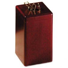 Wood Tones Paper Clip Holder, Wood, 2 1/8 X 2 1/8 X 3 1/2, Mahogany