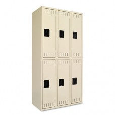 Double Tier Locker, Triple Stack, 36w X 18d X 72h, Sand
